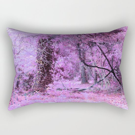 Fantasy Tree Landscape: Orchid Pink Purple Rectangular Pillow