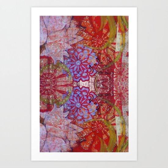 Wet print Art Print