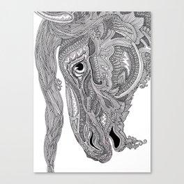 Horse doodle Canvas Print