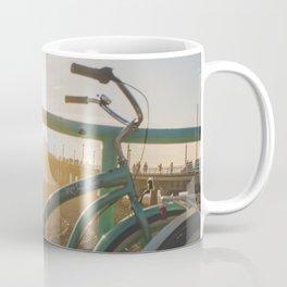 Bike & Beach in Sunny Manhattan Beach, California Coffee Mug