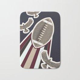 American football, gridiron ball Bath Mat