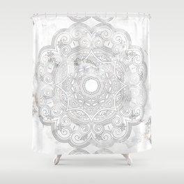 soft colored mandala pattern Shower Curtain