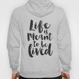 LIFE IS GOOD, Life Is Meant To Be Lived,Life Quote,Family Sign,Enjoy The Life,Motivational Poster,In Hoody