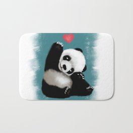 Panda Love (Color) Bath Mat