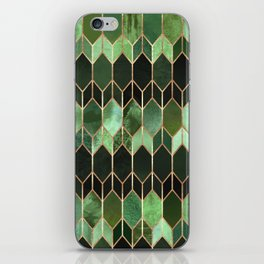 Stained Glass 5 - Forest Green iPhone Skin