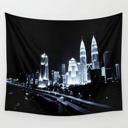 Kuala Lumpur night Wall Tapestry