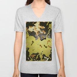Abstract leaves mosaik Unisex V-Neck