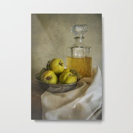 Still life with yellow quinces Metal Print