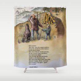 Give Us Men Shower Curtain
