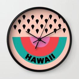 HAWAII RAINBOW WATERMELON Wall Clock