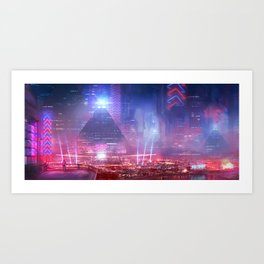 Neos City Art Print