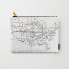 U.S. Numbered Highways as a Subway Map Carry-All Pouch