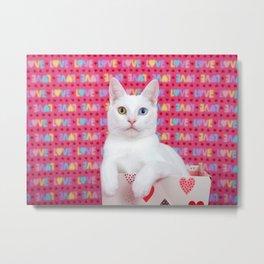 Love Kitten Valentine's Day Metal Print