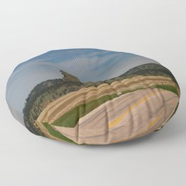 Road To Devils Tower Floor Pillow