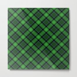 Green Scottish Fabric Metal Print