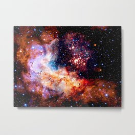 Cosmic Connection 2 galaxy space nebula stars universe Metal Print