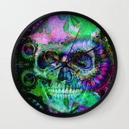 Funky skull ii Wall Clock