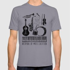 Weapons Of Mass Creation - Music LARGE Slate Mens Fitted Tee