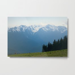 Mt. Olympus Peaks at Hurricane Ridge Metal Print