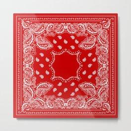 Bandana in Red & White Metal Print