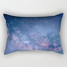 Milky Way Stars (Starry Night Sky) Rectangular Pillow