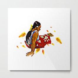 Mujeres de Tahití Cuadro de Paul Gauguin Metal Print