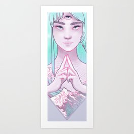 Third Eye Chakra Mudra, Ajna, Yoga, Weronika Salach Art Print