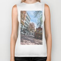 vancouver Biker Tanks featuring Downtown Vancouver  by Jody_Waardenburg