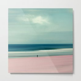 edge of the sea - abstract seascape Metal Print
