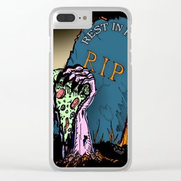 Rest In Pizza Clear iPhone Case