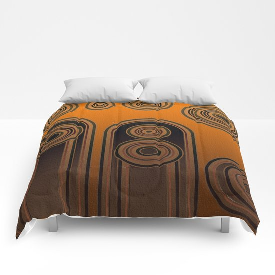 retro shapes Comforters