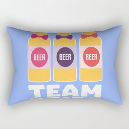 Team Bride Beerbottles B26ll Rectangular Pillow