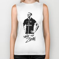 zlatan Biker Tanks featuring Dare to Zlatan by Martinho