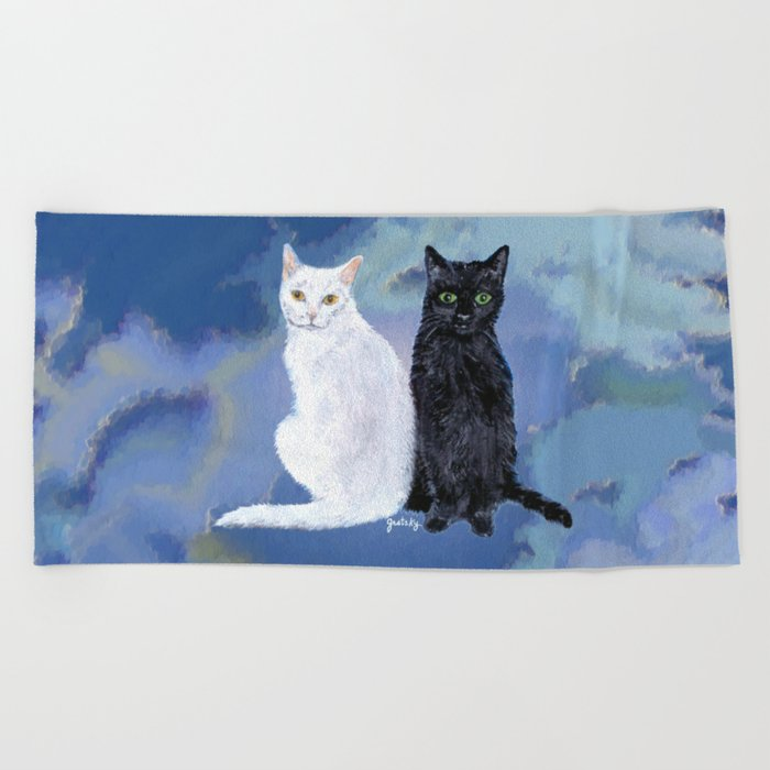 Kingston and Midnight Beach Towel