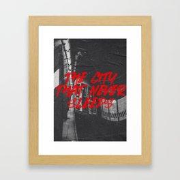 city that never sleeps Framed Art Print