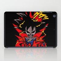 dbz iPad Cases featuring Goku Skull DBZ by offbeatzombie