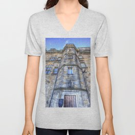 Edinburgh Castle Scotland Unisex V-Neck