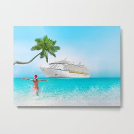 Christmas holidays on Caribbean cruise Metal Print