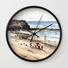 Rhodian shoreline Wall Clock
