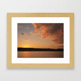 Sun Going Down Framed Art Print