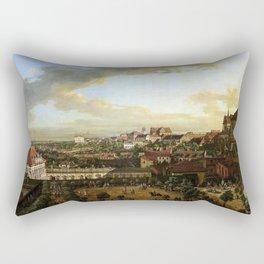 Bernardo Bellotto View of Warsaw from the Royal Castle Rectangular Pillow