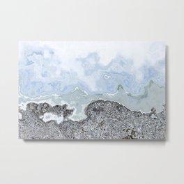 Crashing Waves on Gravel Shores Metal Print