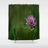 clover Shower Curtains featuring Clover by Dorothy Pinder