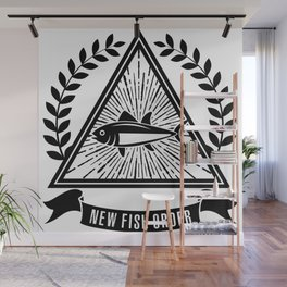 New Fish Order Funny Fishing Graphic Wall Mural