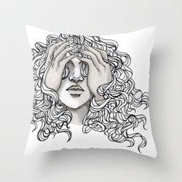 Blind Throw Pillow