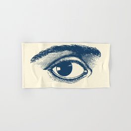 I see you. Navy Blue on Cream Hand & Bath Towel