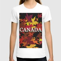 canada T-shirts featuring Canada by megghan18