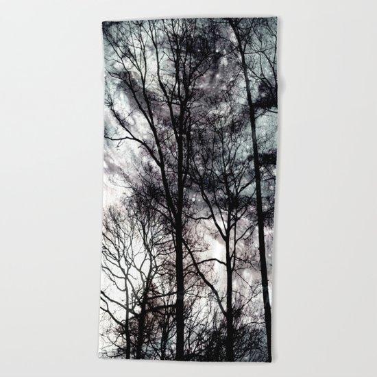 dark forest Beach Towel