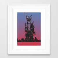 hotline miami Framed Art Prints featuring HOTLINE MIAMI by Bertrand Nadal