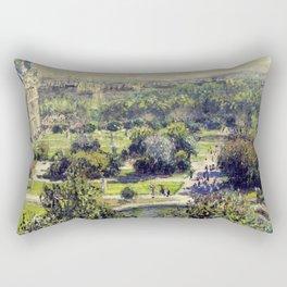 The Tuileries by Claude Monet Rectangular Pillow